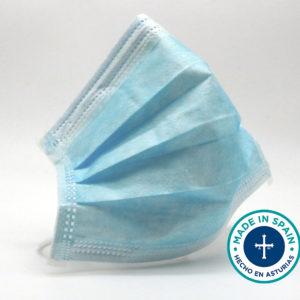 Mascarilla higiénica azul