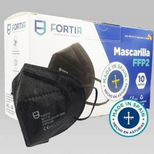FFp2 negra caja de 10 unidades