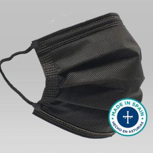 Mascarilla quirúrgica negra FORTIA